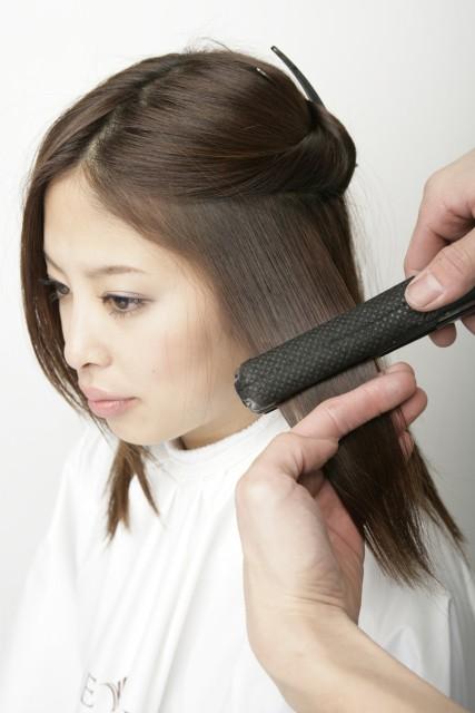 縮毛矯正を活かすヘア画像
