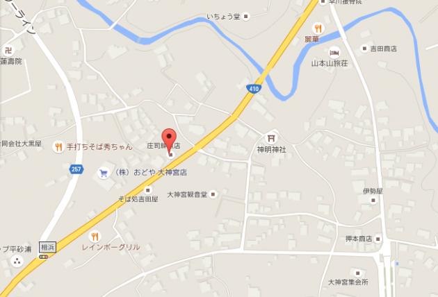 庄司鮮魚店地図画像