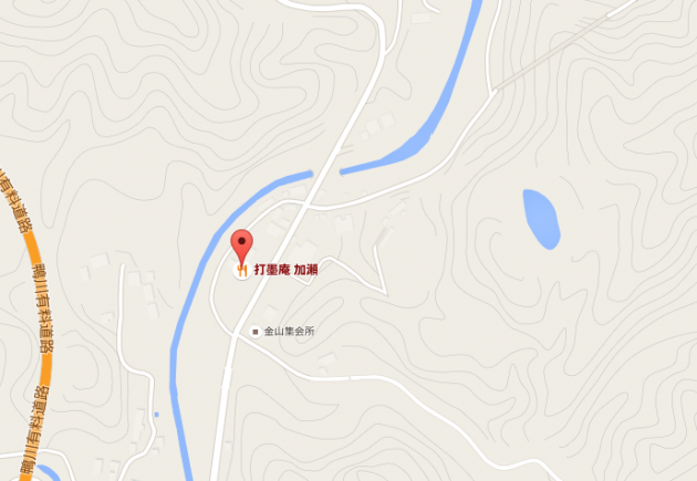 千葉県鴨川の『打墨庵』地図