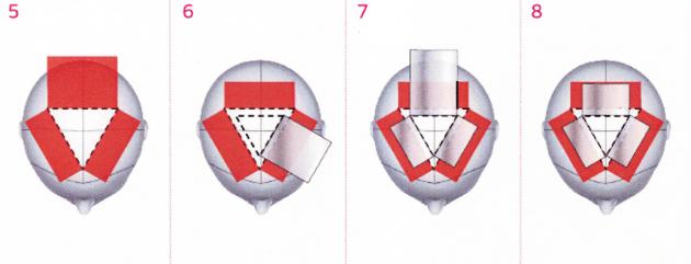 スポーク状のハイライトヘアカラー画像