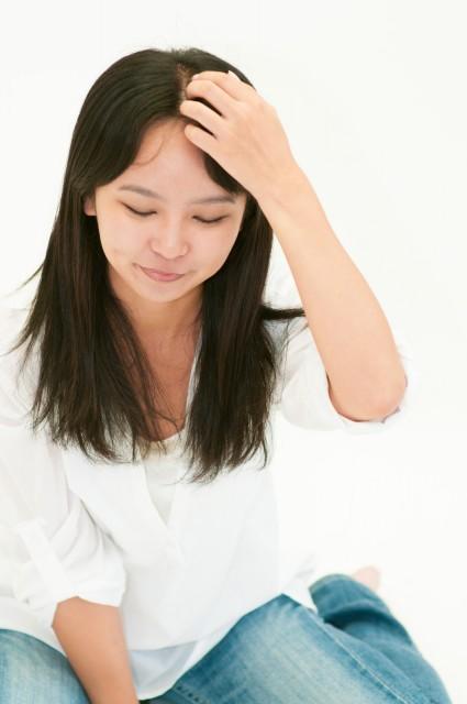 出産後の脱毛画像