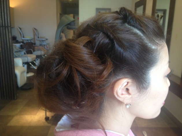 ロープ網の髪型