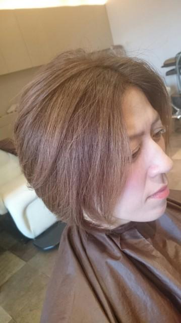 グラデーションヘア画像