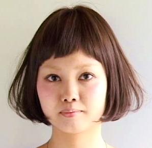 前髪ヘアカット画像