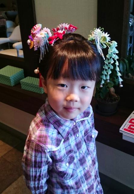 七歳児の日本髪画像