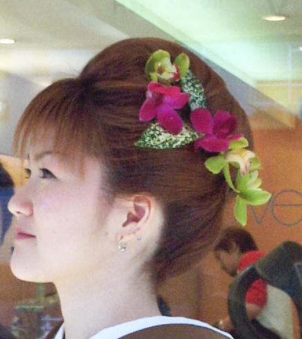 ワンロール風の髪型画像