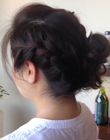 編み込みヘアセット画像