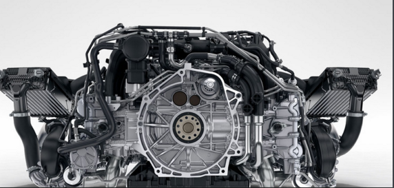 ポルシェ911エンジン部分 画像