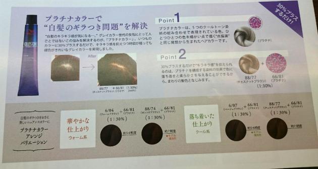 プラチナミックスのヘアカラーの特長画像