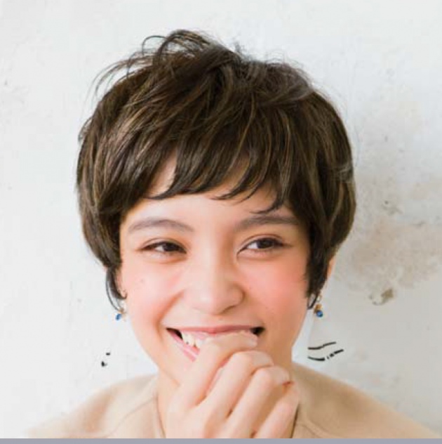 ショートヘアヘアカラー画像