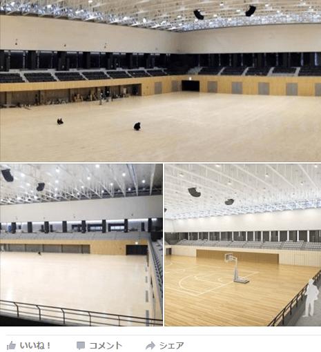 流山市体育館建設画像