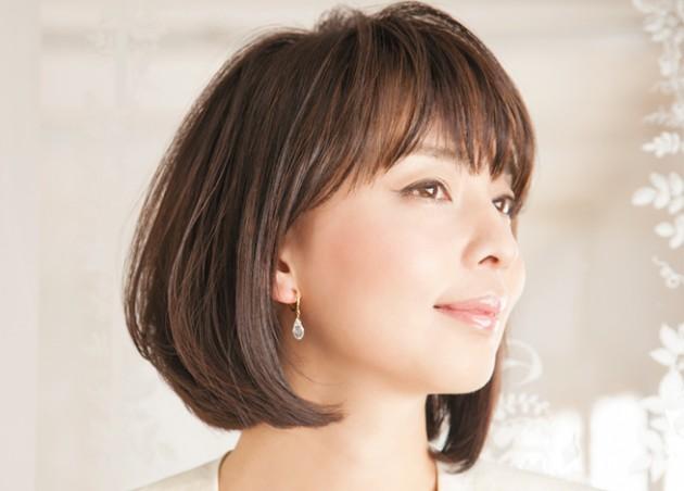 前髪の透け感とラウンド画像