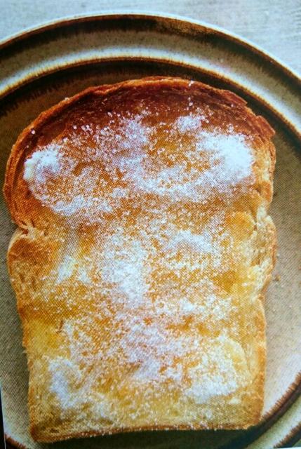 パンと砂糖のトースト画像