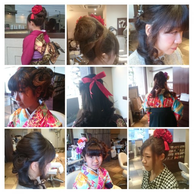 流山市美容室のヘアセット