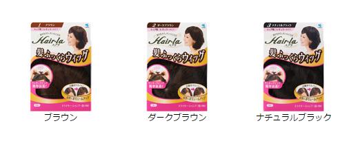 小林製薬「ヘアラ 髪ふっくらウィッグ」画像
