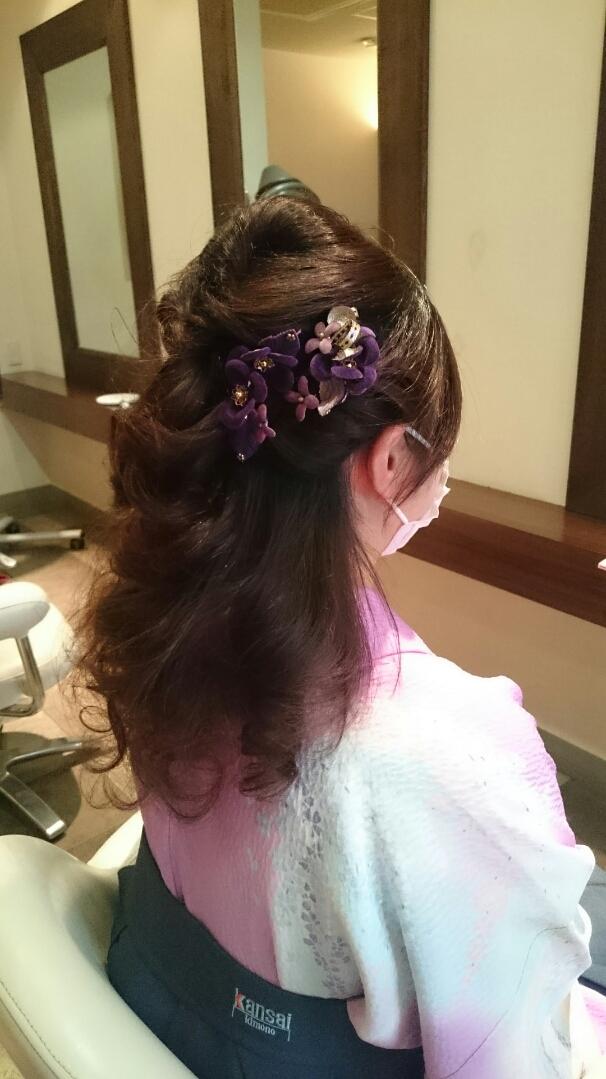 袴に似合う髪型画像