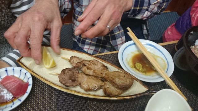 マグロの串焼き画像