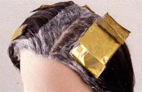セクションヘアカラー画像
