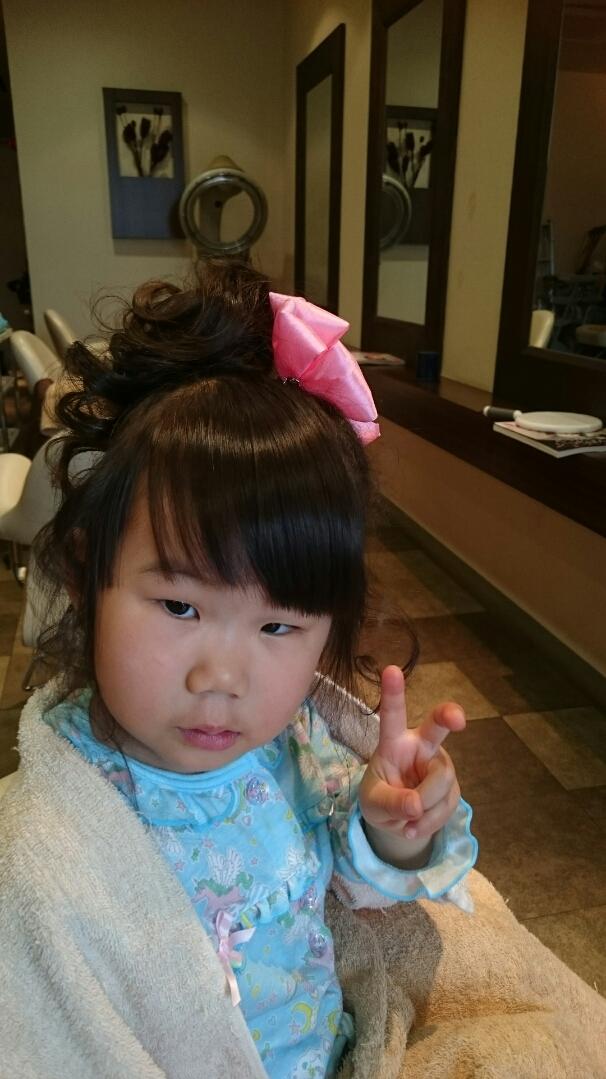 幼少期カールヘア画像