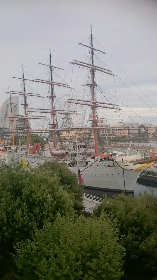 ランドマークの「帆船日本丸」