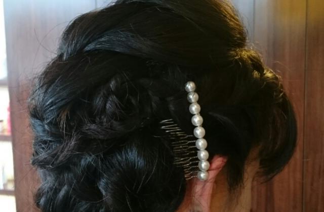 洋装や和装にも合うヘアセット